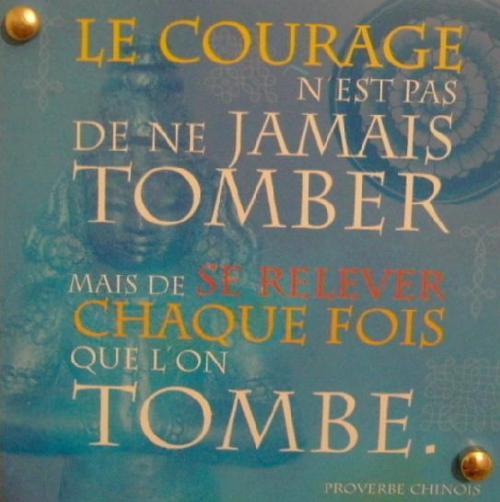 Aujourd'hui  dans Divers courage
